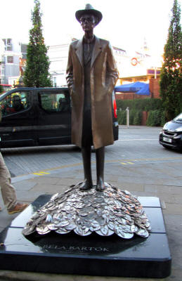 Bela Bartok statue in London